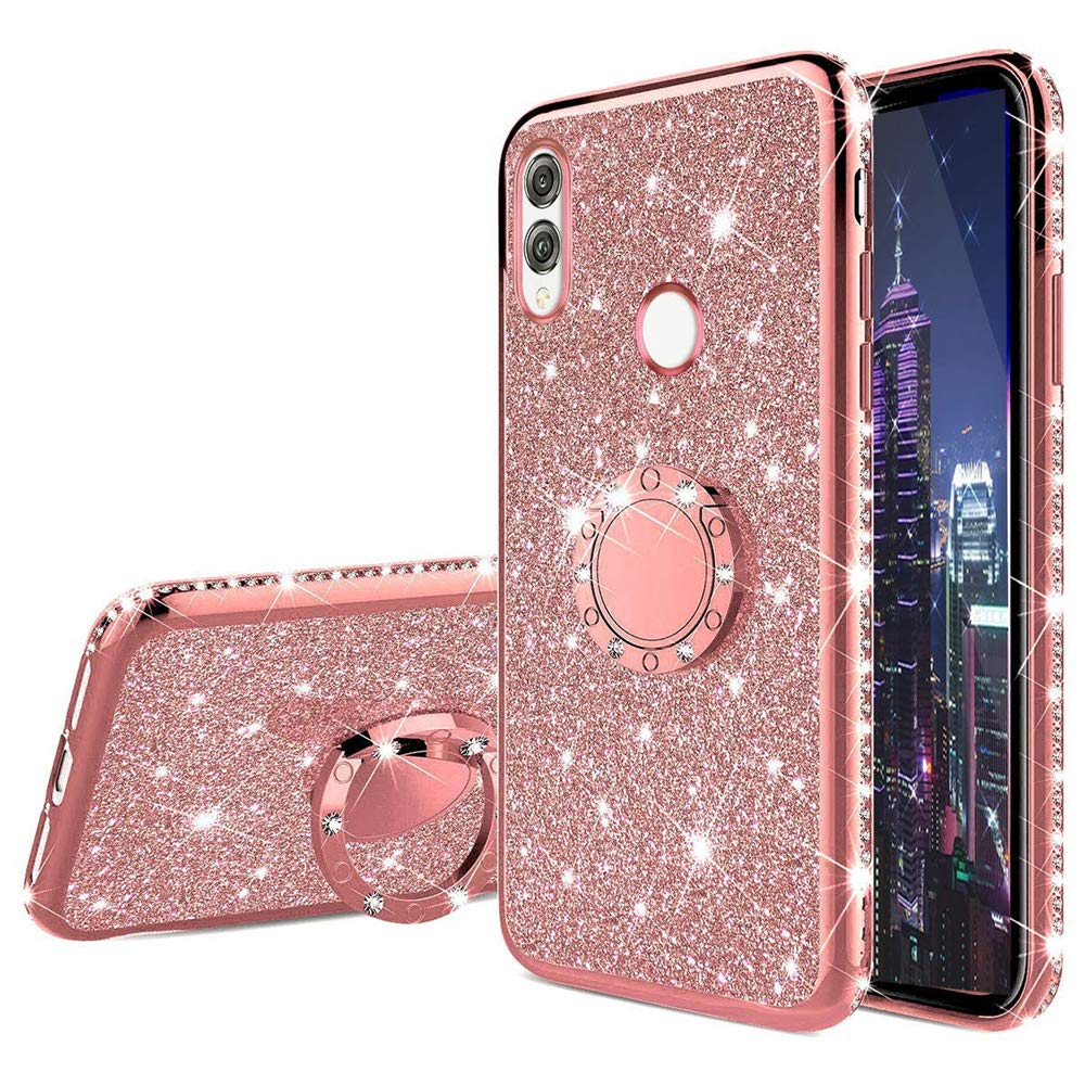 Diamond Case For Xiaomi Mi 9T Pro Jewelled Ring Kickstand Cover For Xiaomi Redmi Note 7 K20 Pro Redmi 7A 7 Y3 Glitter Case