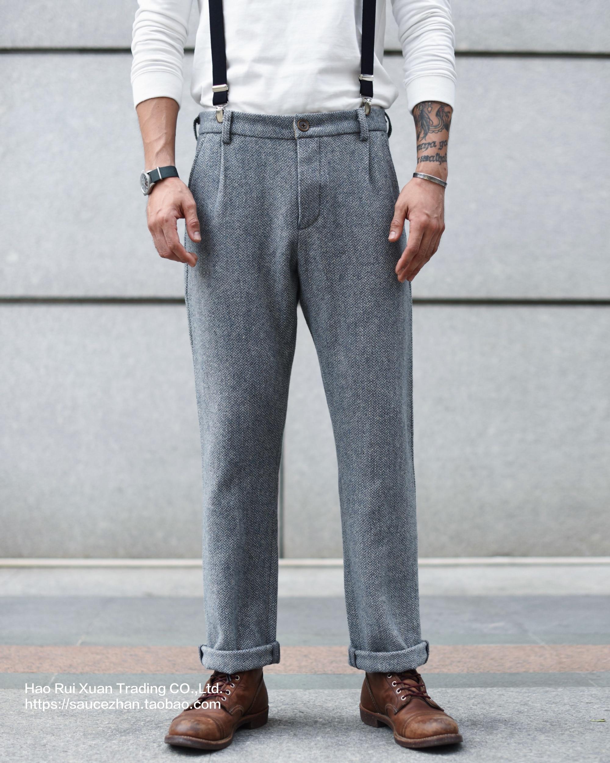 SauceZhan Wool Pants Woolen Trousers