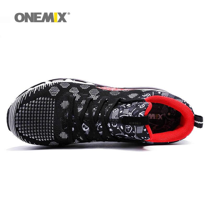 ONEMIX мужские черные спортивные кроссовки на воздушной подушке, кроссовки для бега, Мужская обувь для ходьбы, Мужская обувь для ходьбы, максимальный большой размер 36-46, tn