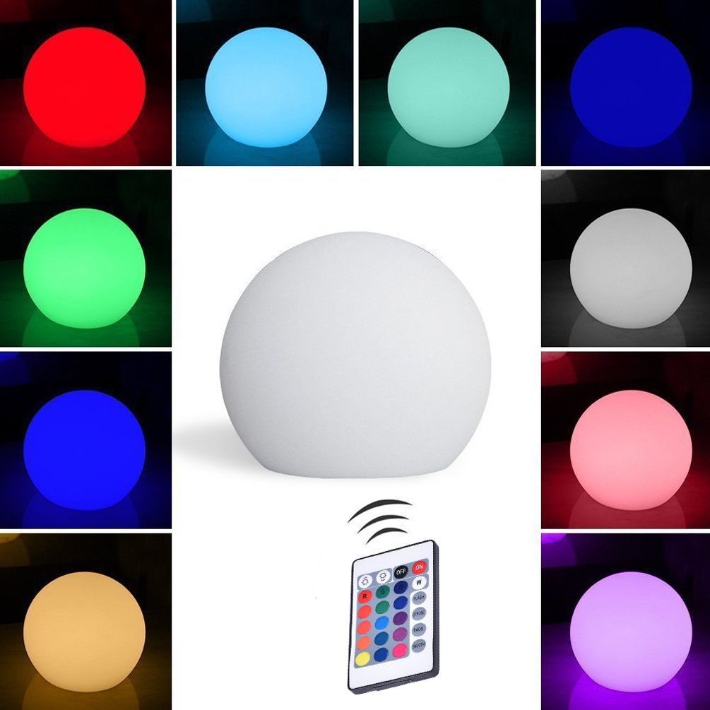 LEDGLE Rechargeable 3D Moon Table Lamp LED Ball Light Decorative Night Light Cordless RGB Lights IP44 Waterproof 16 Color Modes