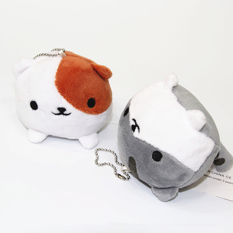 Game Neko Atsume Cute Cat Collector Phone Strap Charm Keychain pillow plush doll stuffed toys baby toys free shipping