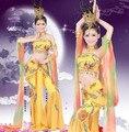 Традиционный китайский народный танец костюм китайский народный танец костюм костюм богини древние китайские костюмы желтый танцор одежда