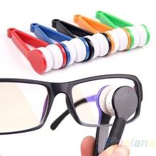 NEW Mini Portable Glasses Eyeglass Sunglasses Spectacles Microfiber Cleaner Brushes BI1I