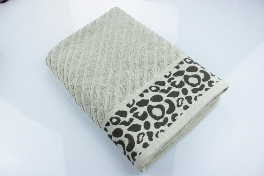 New Arrival Thick Luxury Cotton Leopard Bath Towels Towel Solid SPA Yarn Dyed Bathroom Terry Towels for Adults Serviette de Bain