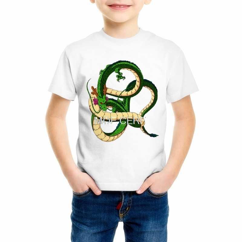 Dragon Ball Z футболки летняя детская одежда модная 3D печать супер сайян сын Goku vegeta с рисунками из комикса «Жемчуг дракона» для мальчиков/Для девочек Футболка топы, футболки C4-69