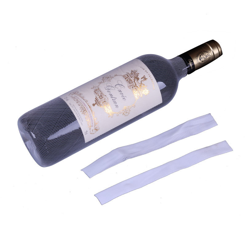 50pcs! PE Plastic Organza Wine Bottle Netting Prevent Friction Bottle Protect Covers Label Champagne Bag Saver Latas Bar Tool