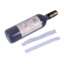 50 шт в наборе! PE пластик органзы бутылки вина сетки предотвращения трения бутылки защиты наклейка на крышки сумка для шампанского saver латас ...
