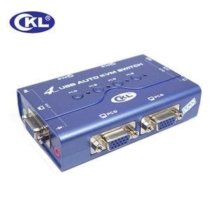 Мини-коммутатор KVM с 4 портами USB, автоматический переключатель VGA, поддержка аудио микрофона, переключатель для ПК, монитора, клавиатуры, мыш...