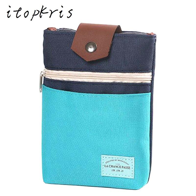 Itopkris Casual Small Lady's Desigual Bag Women Travel Canvas Pocket Portable Crossbody Pouch Necessaire Holder Shoulder Bags casual canvas satchel men sling bag