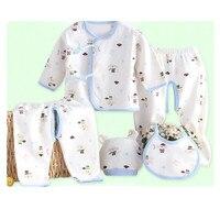 2016 New 0 3M Baby Clothes Newborn Boys Girls Soft Underwear Animal Print 100 Cotton Shirt