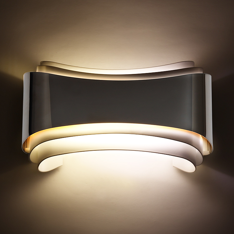 ФОТО European modern brief fashion living room stainless wall light background wall bed-lighting quality luxury 5W led wall light