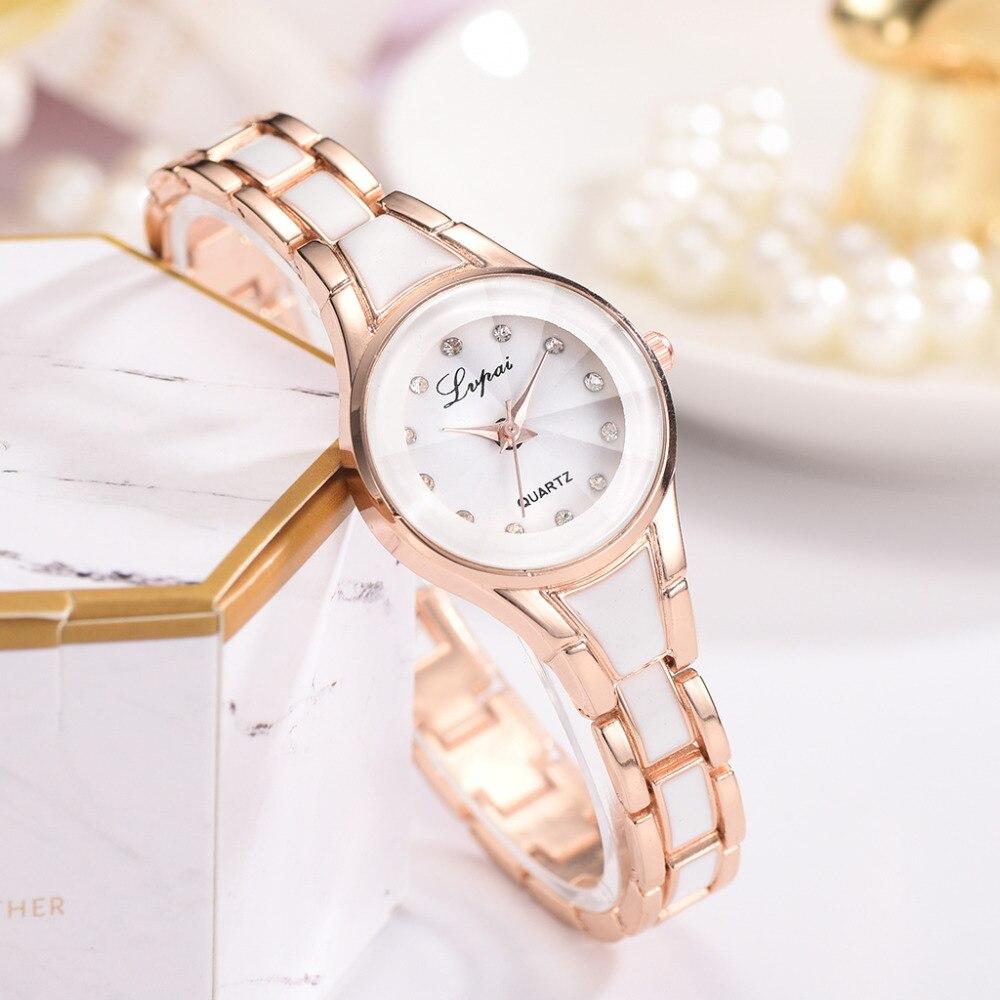 Lvpai Brand Watch Women New Fashion Ladies Luxury Rose Gold Quartz Wristwatches Women Famous Brand Crystal Dress Watches