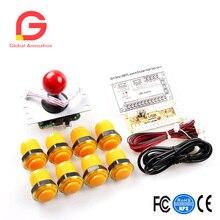 Arcade Game DIY Kit 8X Push Button With Translucent Rim + 1X Zero Daley USB Encoder 5Pin 8Way Joystick For PC