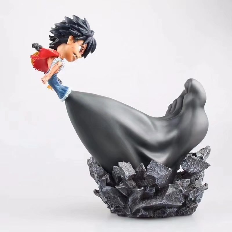 цены 25cm Anime One piece figure Monkey D. Luffy Big feet third gear luffy PVC action figure collection model toys for kids gift