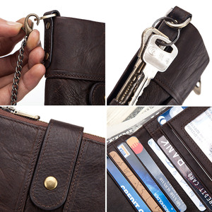Image 4 - 100% Genuine Leather Rfid Wallet Men Crazy Horse Wallets Coin Purse Short Male Money Bag Quality Designer Mini Walet Small