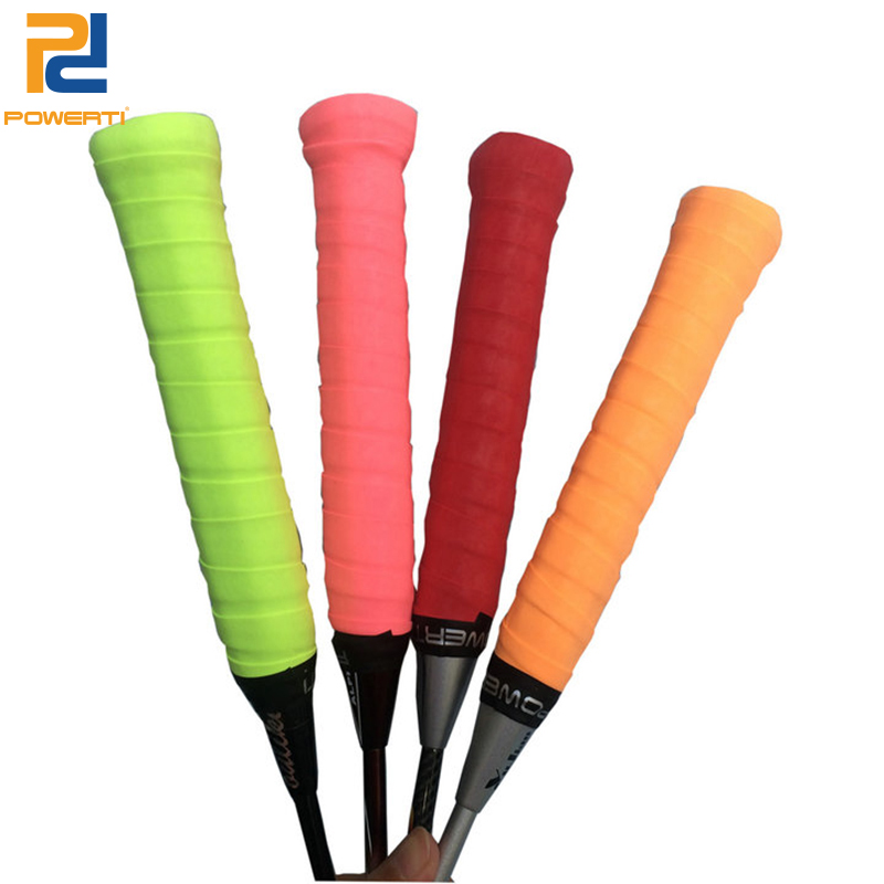 POWERTI 6pcs/lot Dry Sweatbrand Tennis Racket Overgrips Sweat High Flexible Wearable Overgrip for Badminton&Tennis Racket Grip