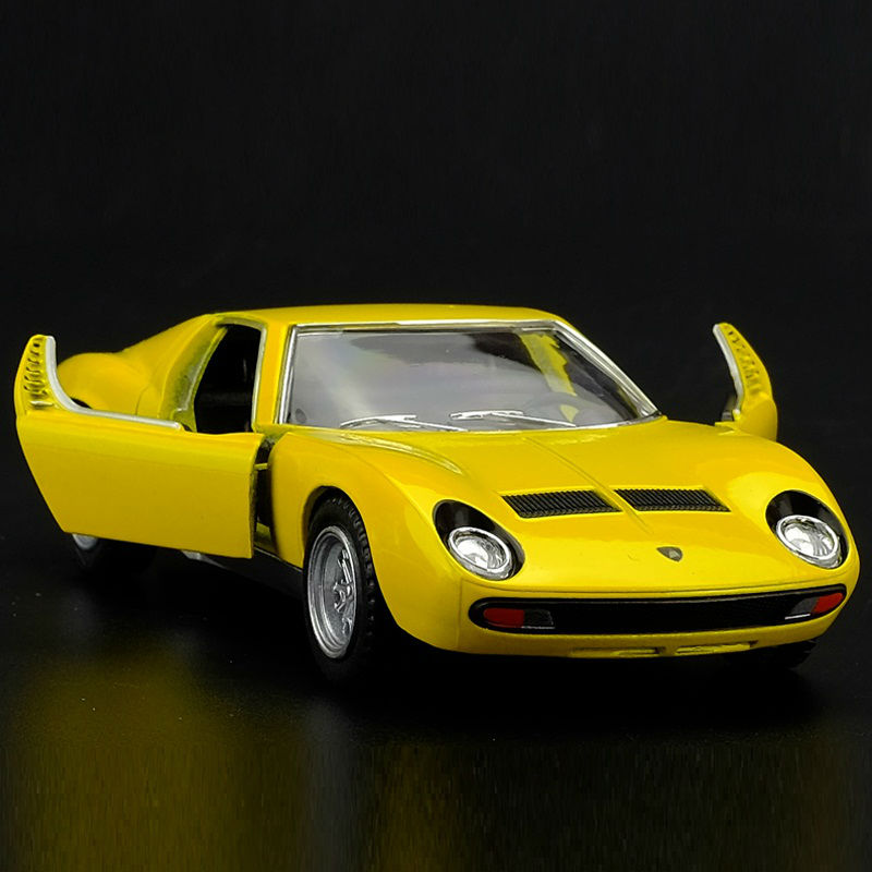 High Simulation Exquisite Diecasts & Toy Vehicles: KiNSMART Car Styling Miura P400 Sports Car 1:34 Alloy Diecast Model Toy Car