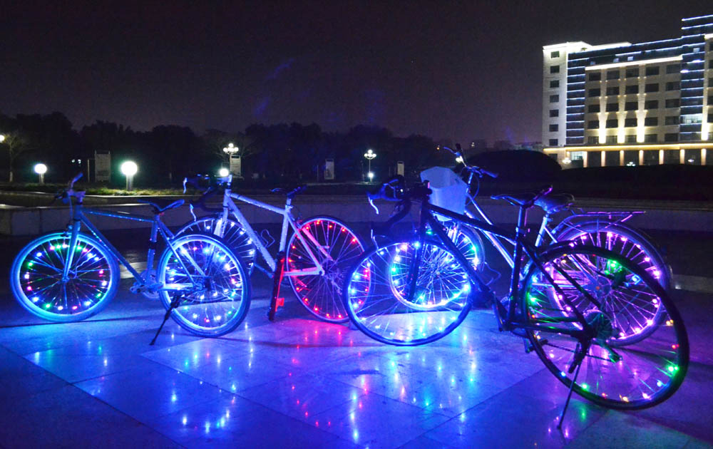 Rim-Lights Led-Wheel-Light Bike Led Bicycle Wire-Lamp 20 Water-Resistant