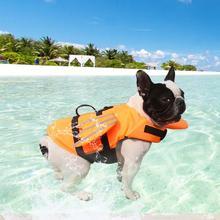 Pet Dog Lifejacket Safety Clothing Lifejacket Harness Dog Pet Swimming Preserver Clothes Summer Swimwear