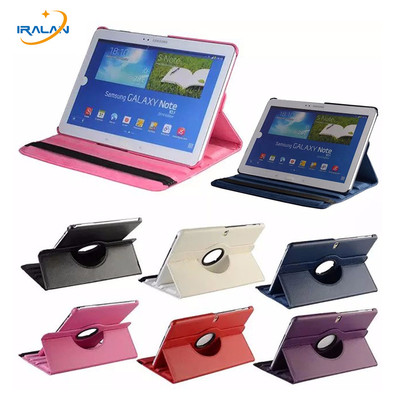 360 Rotation Leather Case For Samsung Galaxy Note 2014 Edition 10.1 P605 p600 p601 Tab Pro SM-T520 t525 t521 cover + Stylus