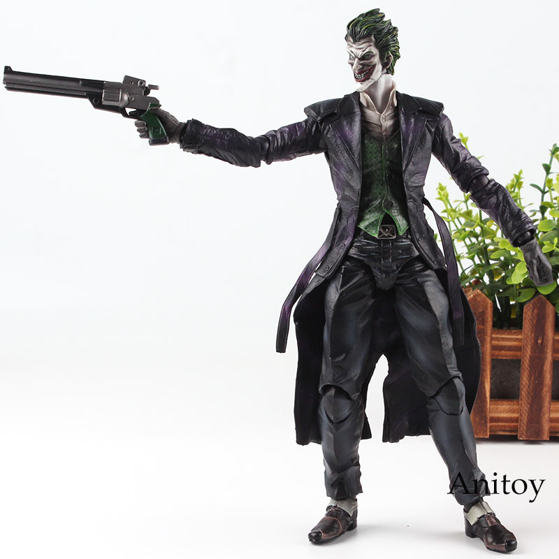 DC Comics Batman Arkham Origins Play Arts Kai Joker Action Figure PVC Collection Model Batman Joker Toys xinduplan dc comics play arts kai justice league movie joker batman movable action figure toys 27cm kids collection model 0276