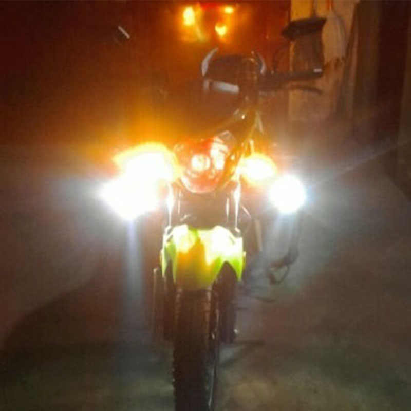 Huiermeimi 2pcs Motorcycle Headlight Moto LED Driving Spotlight Offroad 30W 12V U2 ATV SUV headlamp Car fog light spot head lamp