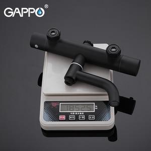 Image 5 - Gappo สีดำก๊อกน้ำชุดฝักบัวอ่างอาบน้ำเทอร์โมเย็นน้ำร้อนแตะอุณหภูมิก๊อกน้ำระบบน้ำตกฝักบัว