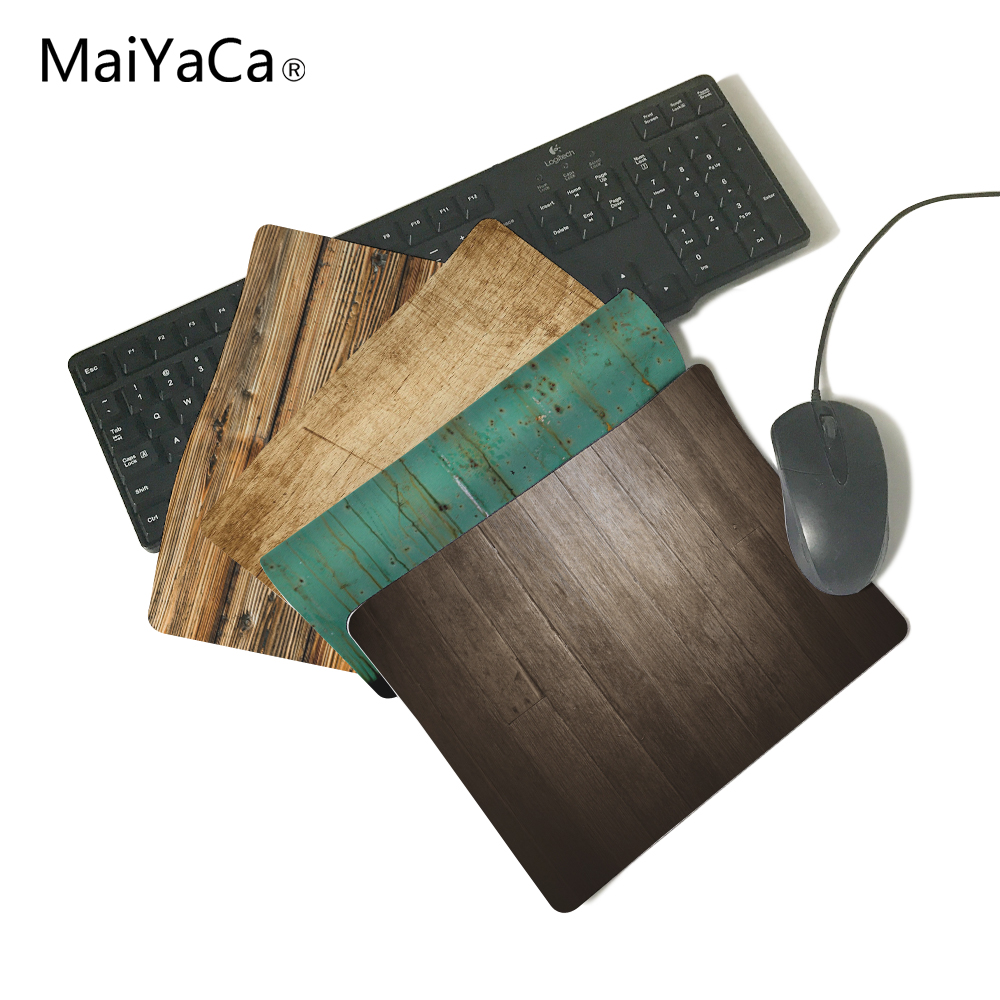 MaiYaCa Wooden Floor Computer Mouse Pad Mousepads Radiation Non-Skid Rubber Pad Not Overlock Mouse Pad maiyaca rainbow pastel watercolor moroccan pattern prints mouse pad small size round gaming non skid rubber pad