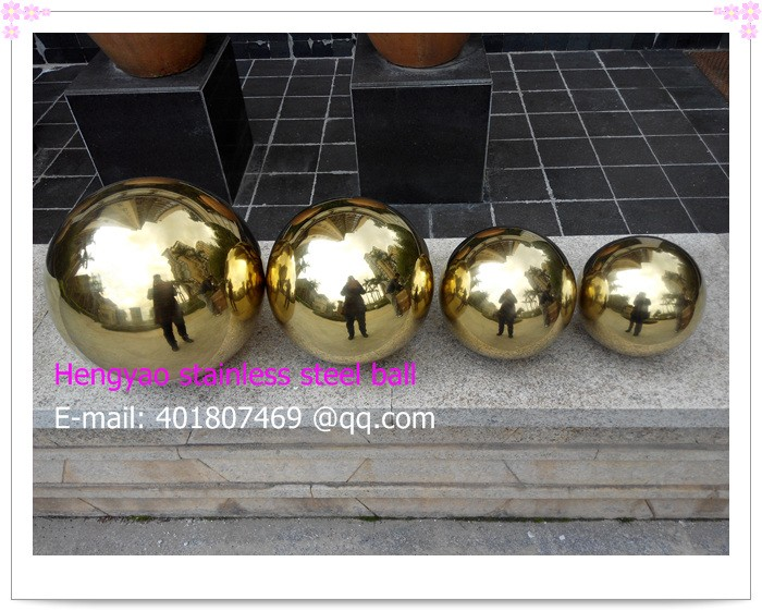 100 mm in diameter Golden stainless steel ball,hollow ball,decoration ball,titanium plating,KTV,shops,bars,hotels decorative