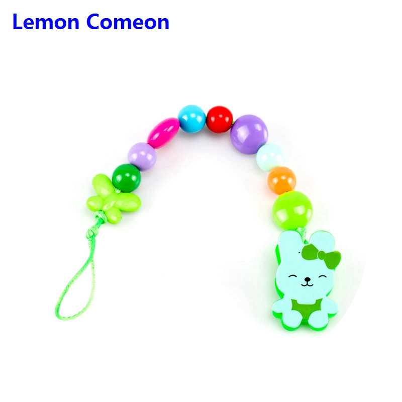 Baby Pacifier Clips Chain Acrylic Beads Cartoon Pacifier Holder Chupetas Soother Dummy Clip Fopspeen Ketting Attache Sucette in Pacifier from Mother Kids
