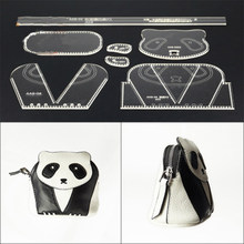 Cute Panda Design Coin Purse Making Stencil Practical Acrylic Leather Tool Template DIY Leather Handbag Acrylic Version Template(China)