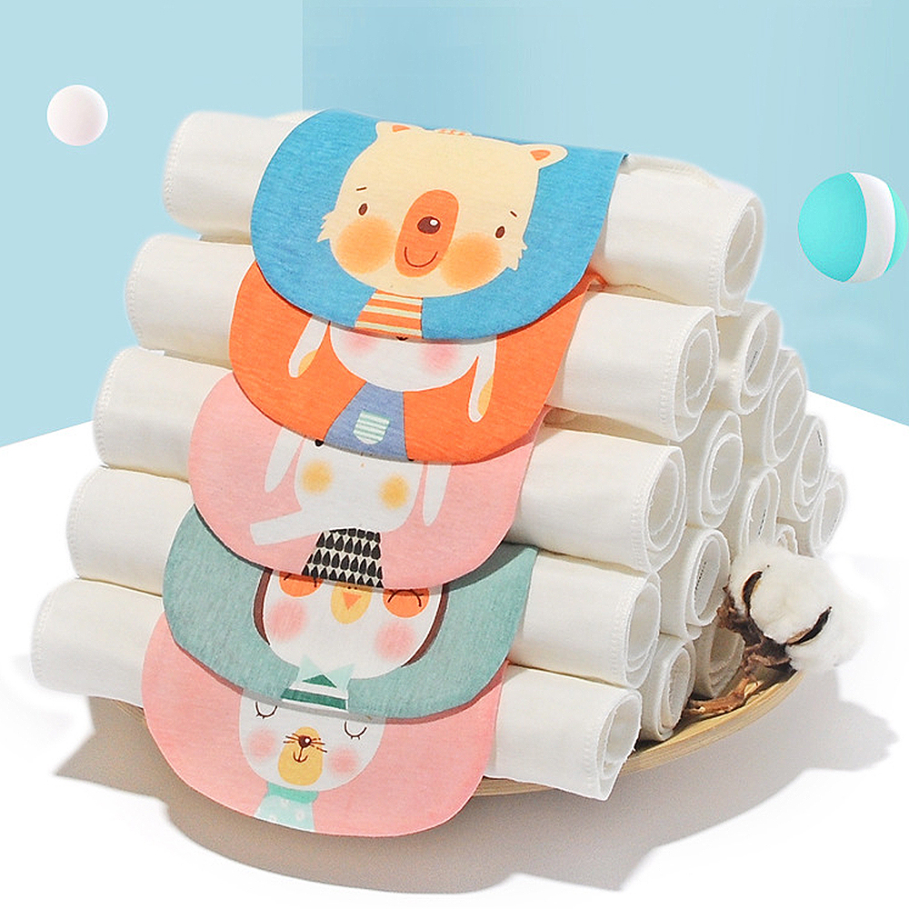 Ultra-soft Cotton Towels Baby Sweat Towel Absorbent Towels Back Pad Towel