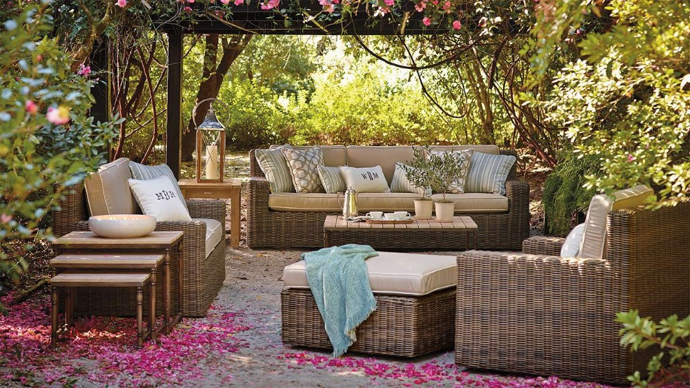 €1457.33 |Loisirs façons catalina osier haut de gamme hôtel banc jardin  patio meubles-in Chaises de jardin from Meubles on AliExpress