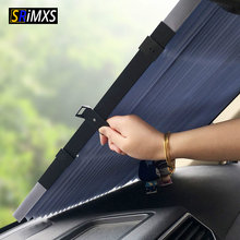 Car Retractable Curtain With Uv Protection Sunshade Car Window Sunshade Upgarde Retracta'ble SUV Truck Car Front Windshield(China)