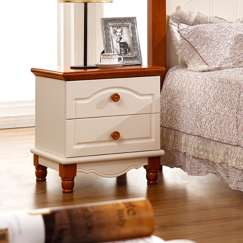 Factory direct Mediterranean push-pull Mini simple bedroom bedside tableFactory direct Mediterranean push-pull Mini simple bedroom bedside table