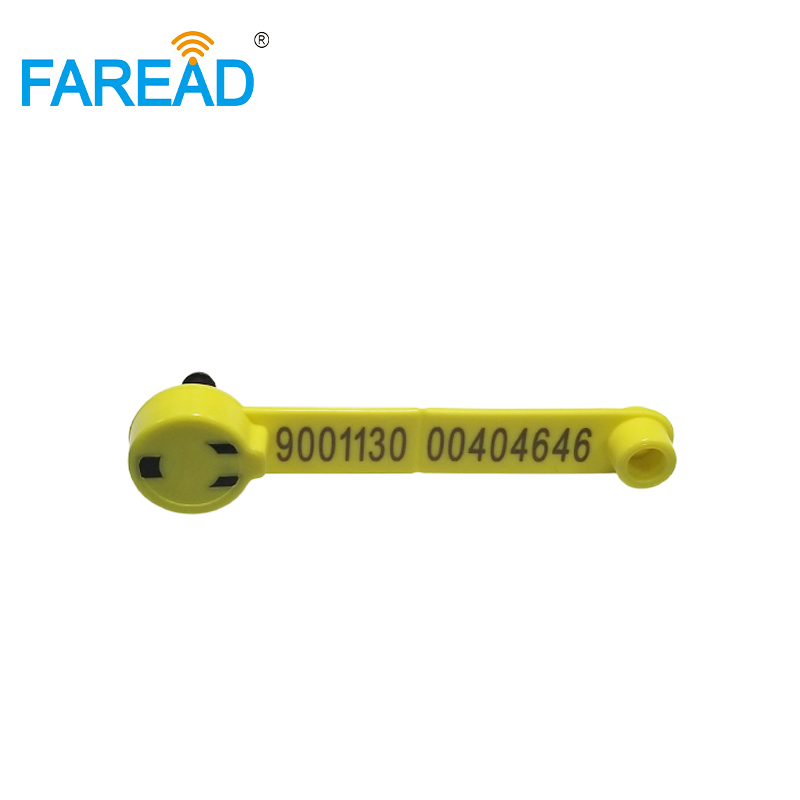 X80pcs Yellow ISO11784/85 TPU 134.2KHz FDX-B RFID Animal Ear Tag For Sheep Electronic Identification With ICAR Certification