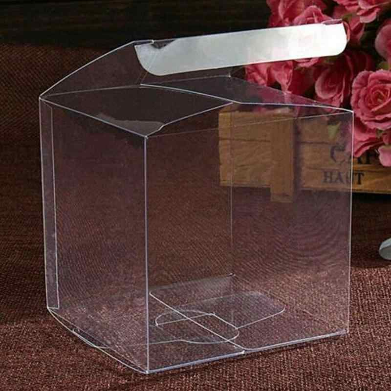 Hot Sale Transparent Plastic Storage Box Jewelry Organizer Case Coins Earrings Necklace Storage Cosmetic Organizer Rangement