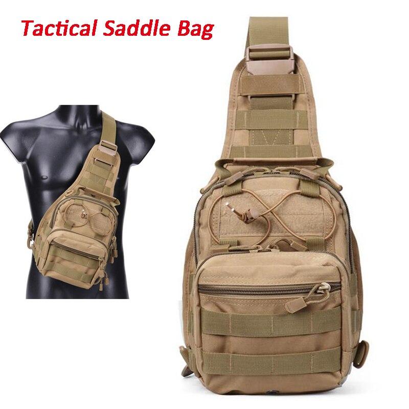 Military Tactical Nylon Saddle Bag Outdoor Sport Molle Hiking Climbing Shoulder Backpack 5 Colors sa212 saddle bag motorcycle side bag helmet bag free shippingkorea japan e ems