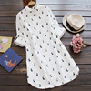 New Plus Size Women S Casual Loose Design Printed Rabbit Cotton Long Sleeved Female Shirt Blouses