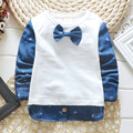 Free shipping New Lovely  bow Baby Kids Boys girls cotton Tops T-shirts summer children's clothing Age 0-4Y