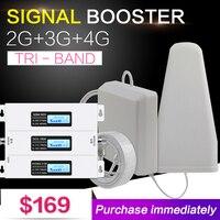 Новая Европа г 2 г 3g 4G трехдиапазонный сотовый телефон усилитель сигнала 70dB GSM повторитель 3g WCDMA UMTS 2100 4G LTE 1800 усилитель набор для дома