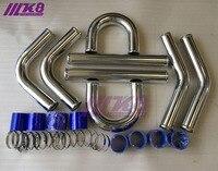 Kit de tubulação intercooler turbo de alumínio/tubos/braçadeira/acoplador/universal 3