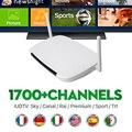 Caja androide De la Tv IPTV Caja Cielo Con 1700 + Español Y Europeo Sky UK Sports canales En Vivo Canal de Cine + Suecia Holandés Turco IPTV
