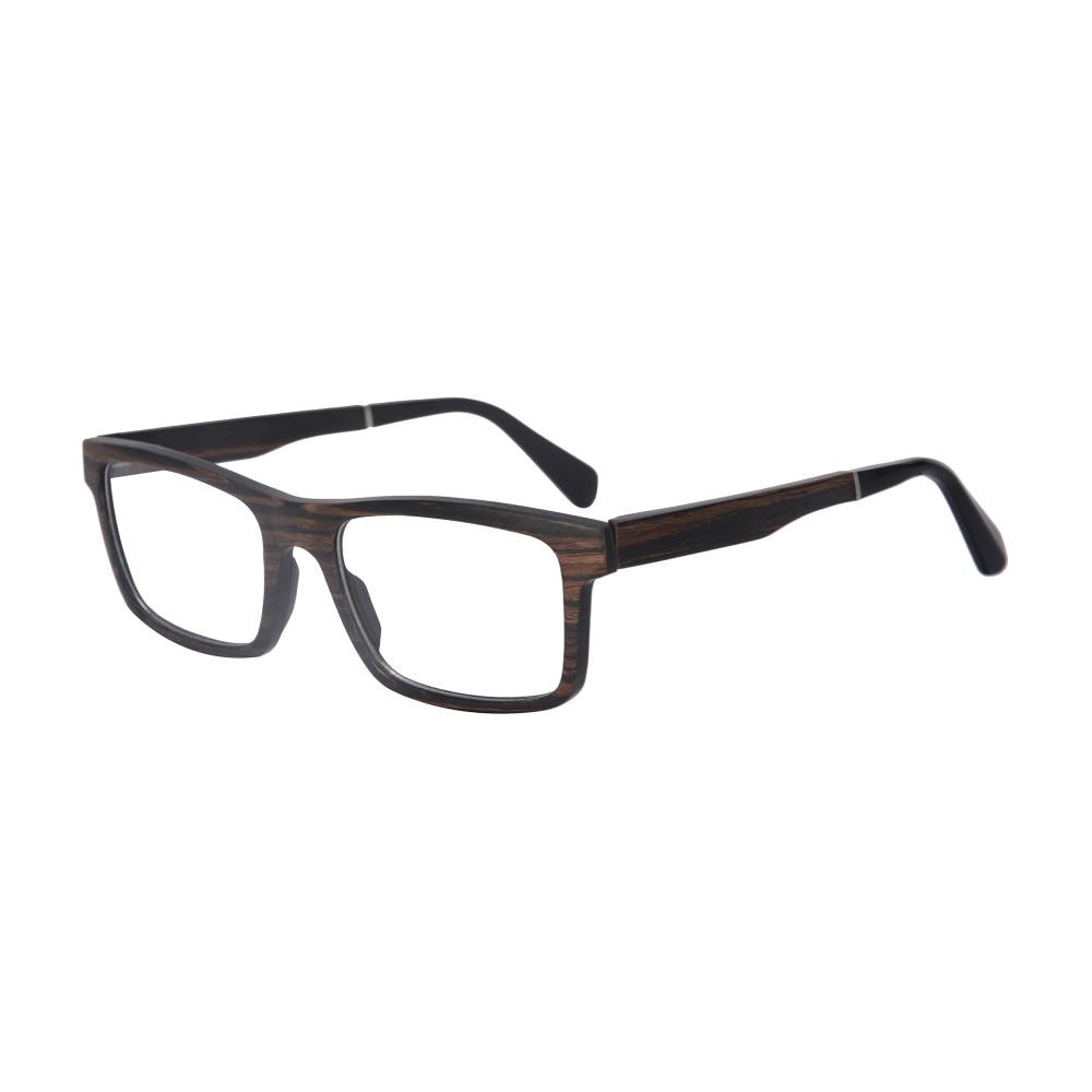 Luxury Women Men Wood Eyeglasses Square Optical Frame Prescription ...