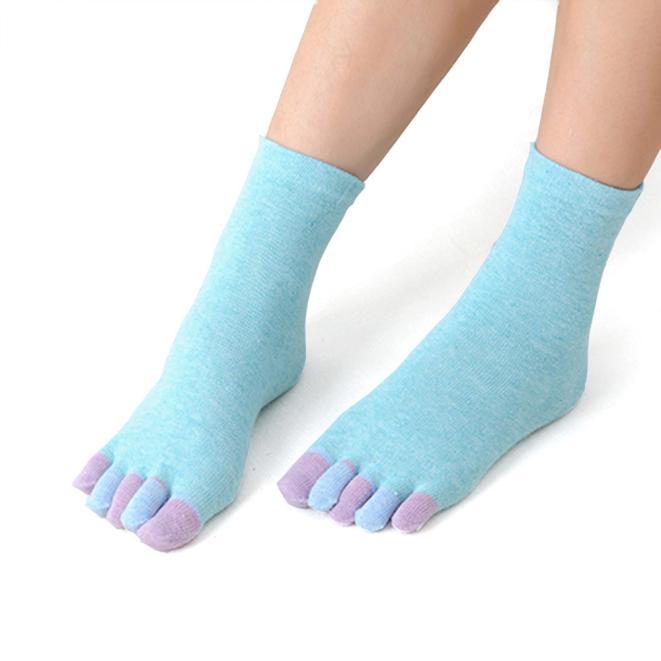 Womens Cotton Colorful Non Slip Massage Toe   Socks   Full Grip With   Socks   Heel n Winter Autumn Warm Cotton Floor   Sock   W326
