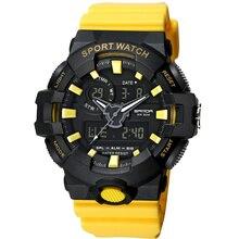 Luxury SANDA Women Watches Chronograph Date Waterproof Dual Digital Display Quartz Movement Sport Ladies Wristwatches SD770