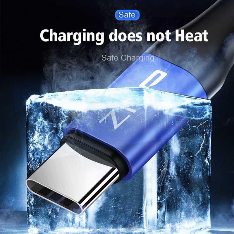 Znp USB Tipe C Kabel 3.0 Cepat Charger UNTUK Samsung S10 S9 A50 Ponsel Tipe-C Usb Data kabel untuk Huawei P30 Pro Tipe C Kabel