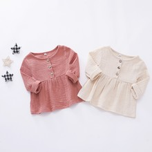 Baby dress 2018 spring fashion children's clothing long-slee