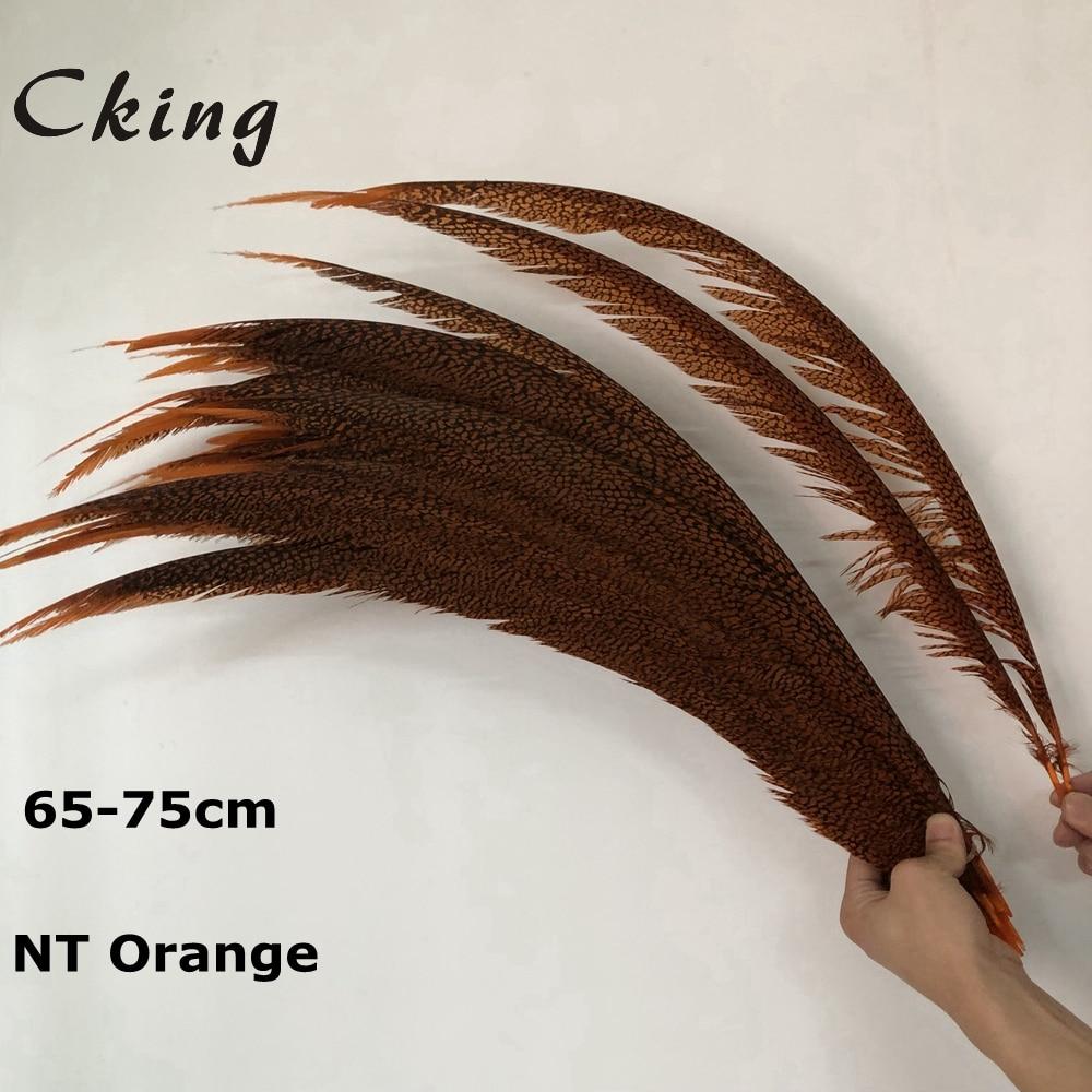 Cking En Gros 50-100 pièces naturel de haute qualité Teinté Orange Dame Amherst Faisan Plumes 25-30 pouces/65-75 cm Décoratif bricolage queues