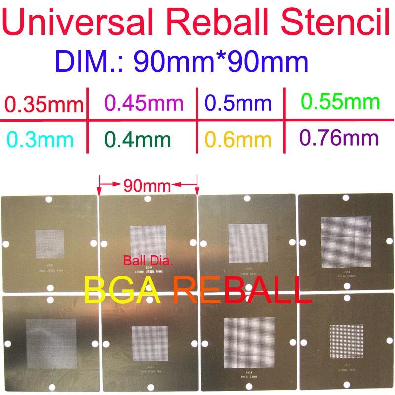 90*90 0.3mm 0.3 mm Reball Universal Stencil Template